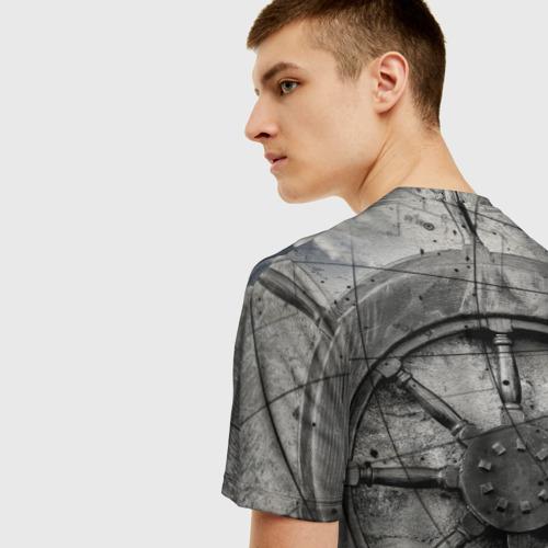 Мужская футболка 3D Штурвал Фото 01