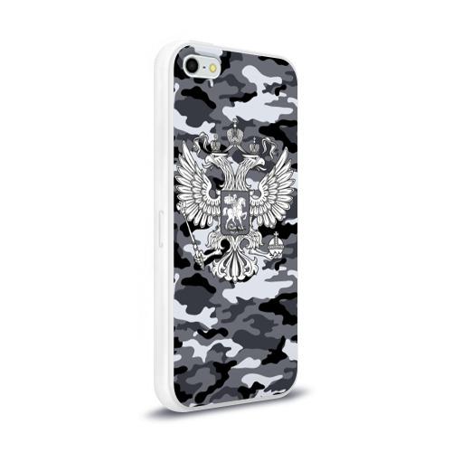 Чехол для Apple iPhone 5/5S силиконовый глянцевый  Фото 02, Городской камуфляж Россия
