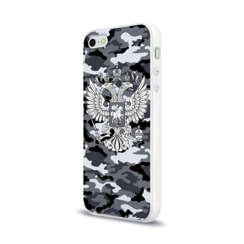 Чехол для Apple iPhone 5/5S силиконовый глянцевый  Фото 03, Городской камуфляж Россия