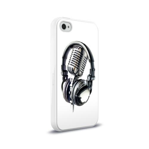 Чехол для Apple iPhone 4/4S силиконовый глянцевый Диджей Фото 01
