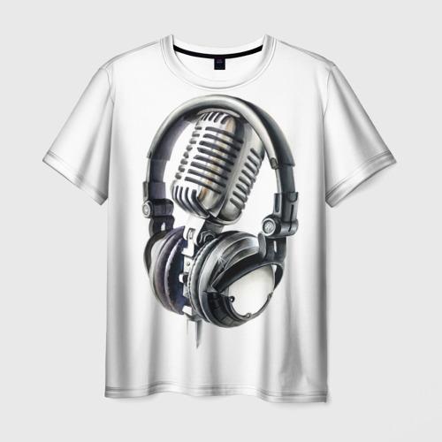 Мужская футболка 3D Диджей