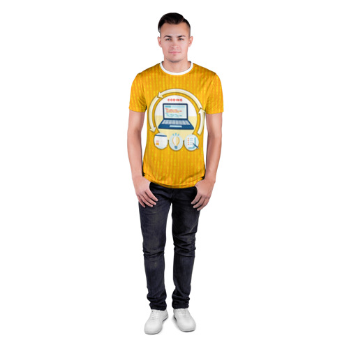Мужская футболка 3D спортивная Программирование 3