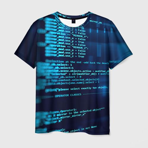 Мужская футболка 3D Программирование 6