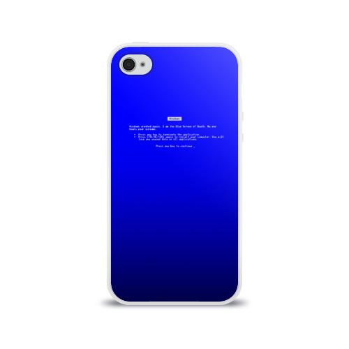Чехол для Apple iPhone 4/4S силиконовый глянцевый  Фото 01, BSOD
