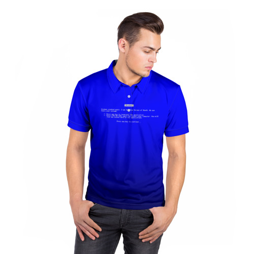 Мужская рубашка поло 3D  Фото 05, BSOD