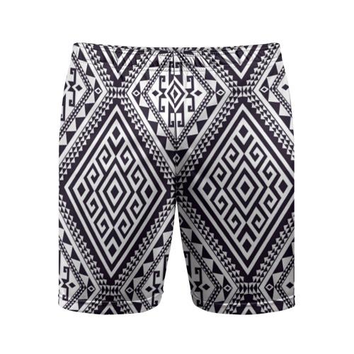 Мужские шорты 3D спортивные  Фото 01, Тартан