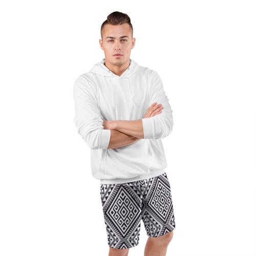 Мужские шорты 3D спортивные  Фото 05, Тартан
