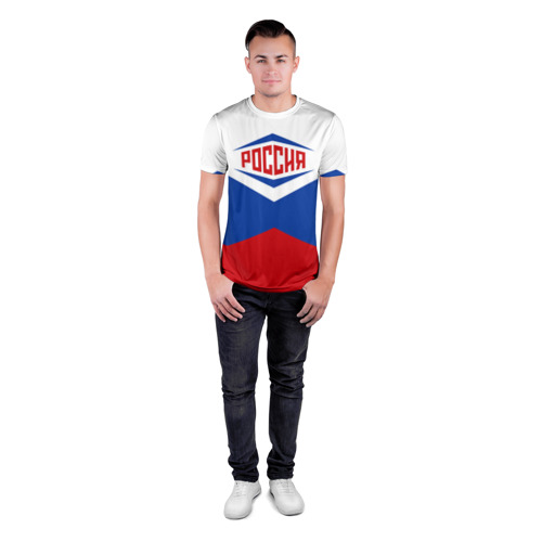 Мужская футболка 3D спортивная Россия 2016 Фото 01