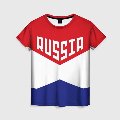 Женская футболка 3D Россия Фото 01
