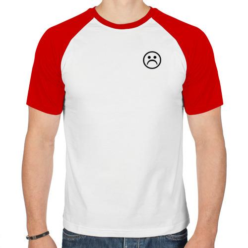 Мужская футболка реглан  Фото 01, Sad face