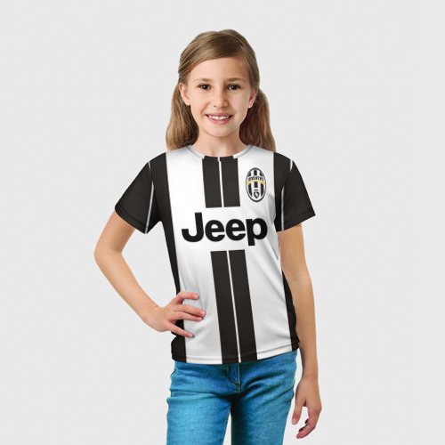 Детская футболка 3D  Фото 03, Ювентус (форма)