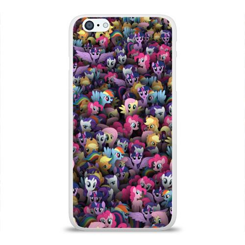 Чехол для Apple iPhone 6Plus/6SPlus силиконовый глянцевый  Фото 01, My Little Pony. Персонажи