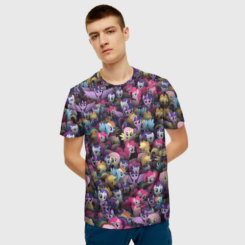 Мужская футболка 3D My Little Pony. Персонажи Фото 01