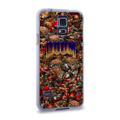 Чехол для Samsung Galaxy S5 силиконовый  Фото 02, Doom. Все монстры (pixel art)