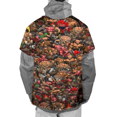 Накидка на куртку 3D  Фото 02, Doom. Все монстры (pixel art)