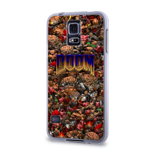 Чехол для Samsung Galaxy S5 силиконовый  Фото 03, Doom. Все монстры (pixel art)
