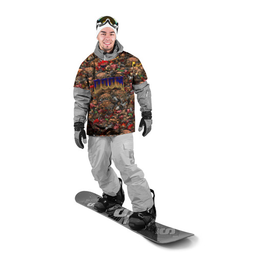 Накидка на куртку 3D  Фото 03, Doom. Все монстры (pixel art)