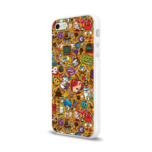 Чехол для Apple iPhone 5/5S силиконовый глянцевый  Фото 03, Стикербомбинг