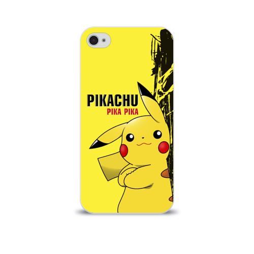Чехол для Apple iPhone 4/4S soft-touch  Фото 01, Pikachu Pika Pika
