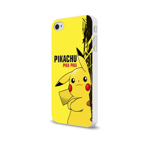 Чехол для Apple iPhone 4/4S soft-touch  Фото 03, Pikachu Pika Pika