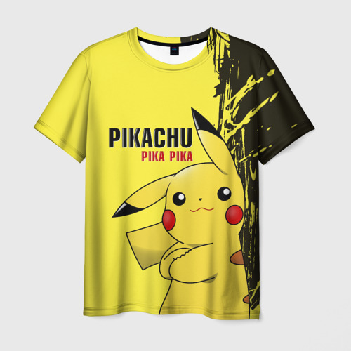 Мужская футболка 3D Pikachu Pika Pika