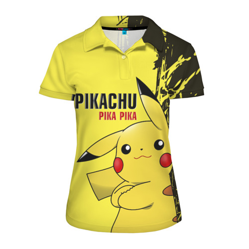 Женская рубашка поло 3D Pikachu Pika Pika
