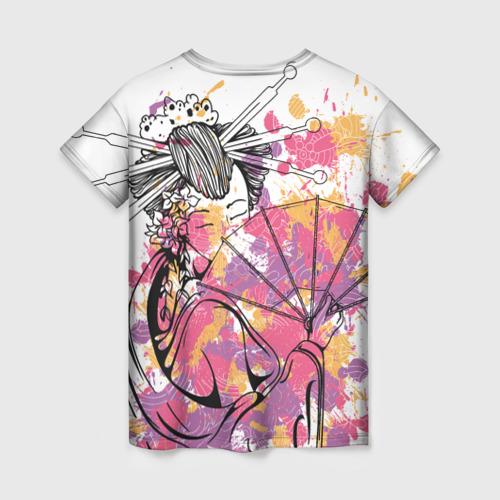 Женская футболка 3D Гейша Фото 01