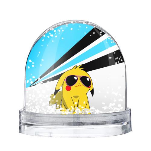 Водяной шар со снегом Пикачу в очках