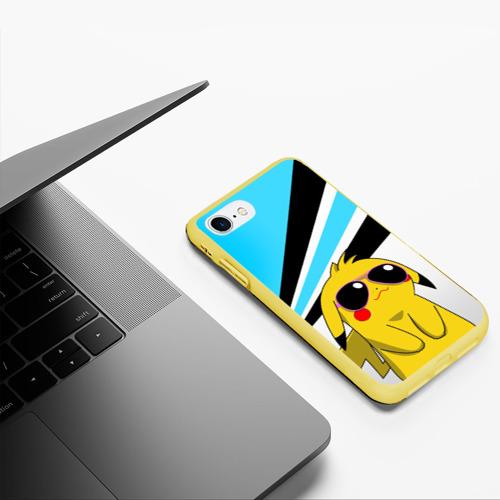 Чехол для iPhone 7/8 матовый Пикачу в очках Фото 01