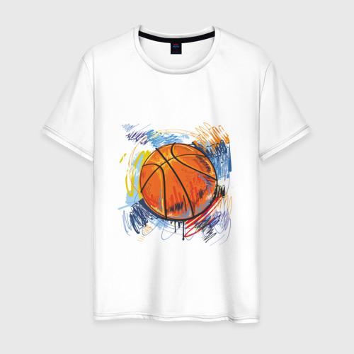 Баскетбольный мяч в штрихах