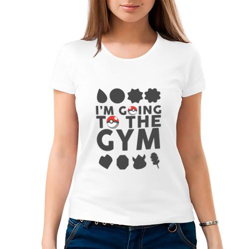 Женская футболка хлопок  Фото 03, Pokemon I'm going to the gym (gray)