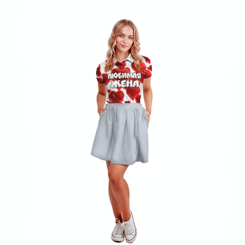 Женская рубашка поло 3D  Фото 04, Любимая жена