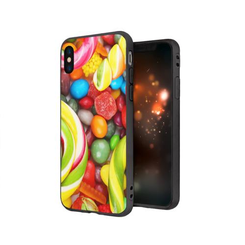 Чехол для Apple iPhone X силиконовый матовый Вкусняшки Фото 01
