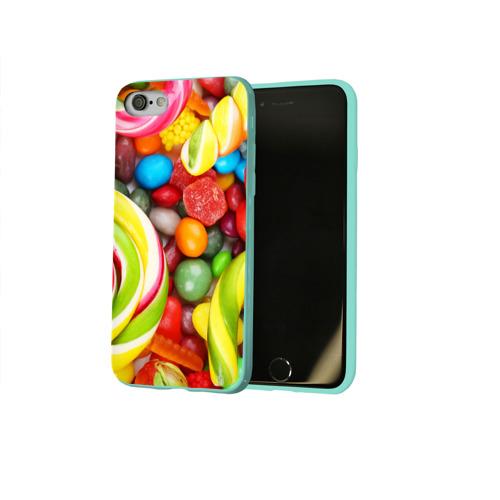 Чехол для Apple iPhone 8 силиконовый глянцевый Вкусняшки Фото 01