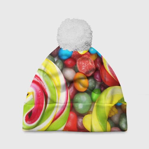 Шапка 3D c помпоном Вкусняшки