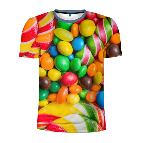 Мужская футболка 3D спортивная Сладкоежка