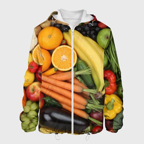Мужская куртка 3D  Фото 01, Овощи и фрукты