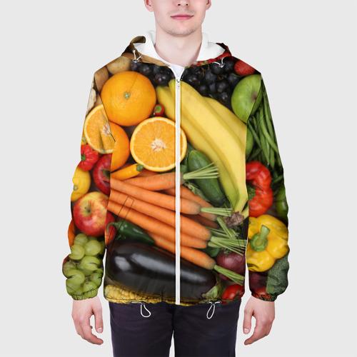 Мужская куртка 3D  Фото 04, Овощи и фрукты