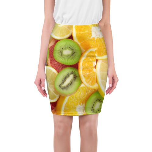 Юбка 3D  Фото 01, Сочные фрукты