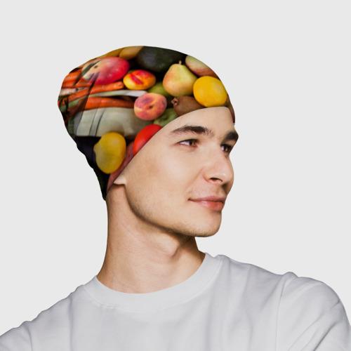 Шапка 3D  Фото 02, Спелые фрукты