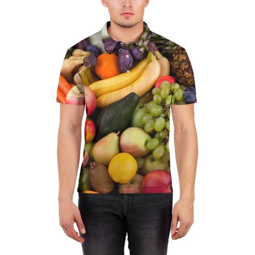 Мужская рубашка поло 3D  Фото 03, Спелые фрукты