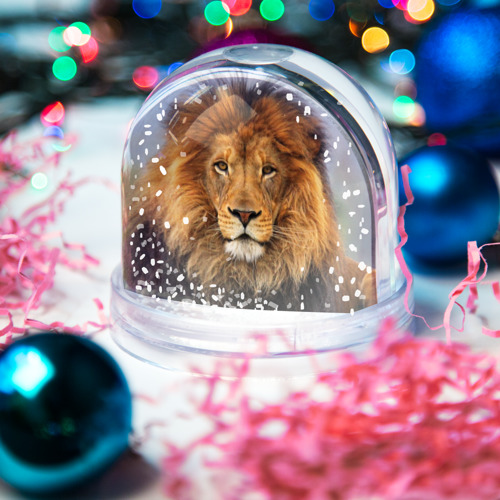 Водяной шар со снегом  Фото 03, Красавец лев