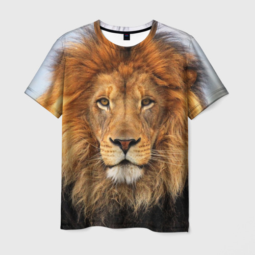 Мужская футболка 3D Красавец лев