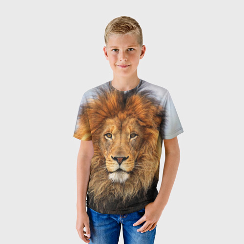 Детская футболка 3D Красавец лев