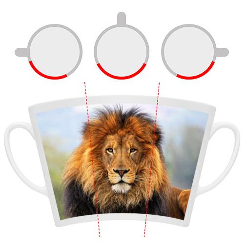 Кружка Латте  Фото 06, Красавец лев