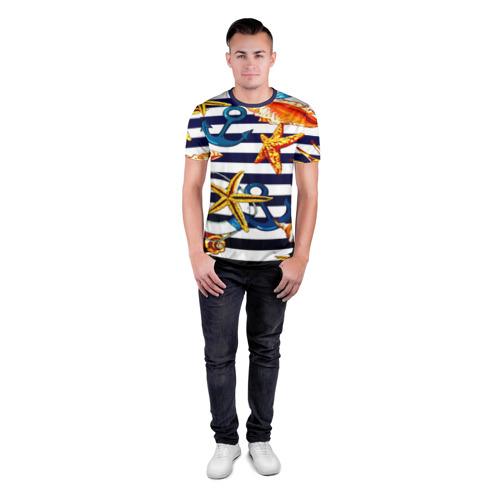 Мужская футболка 3D спортивная Моряк Фото 01