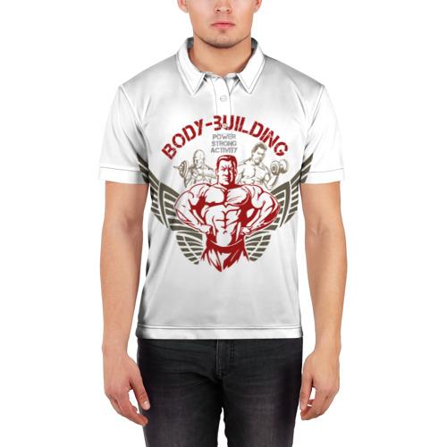 Мужская рубашка поло 3D  Фото 03, Body-building