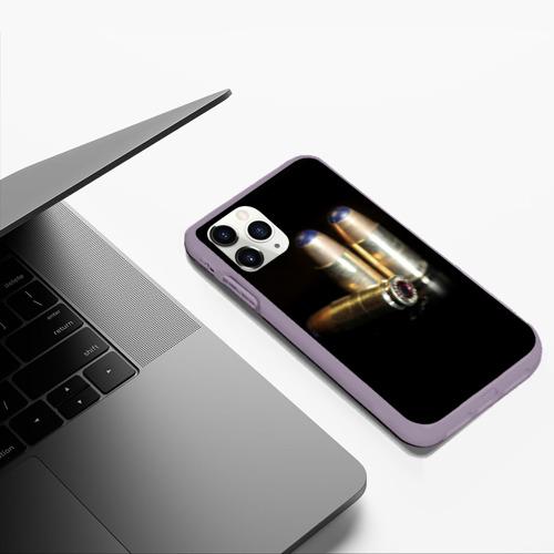 Чехол для iPhone 11 Pro Max матовый Патроны 2 Фото 01