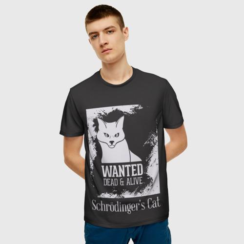 Мужская футболка 3D  Фото 03, Wanted Cat