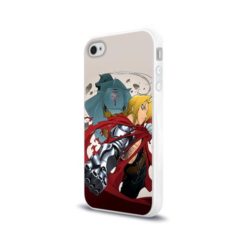 Чехол для Apple iPhone 4/4S силиконовый глянцевый  Фото 03, Fullmetal Alchemist
